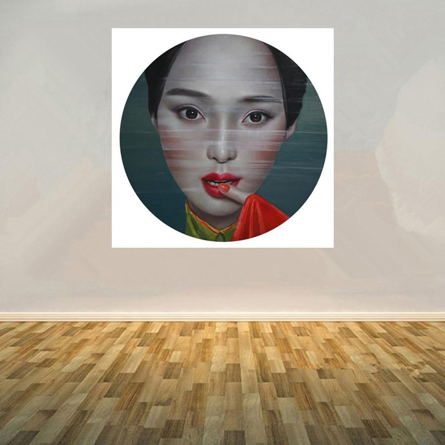 Ölgemälde Leinwand handgemaltes Modernes kunst Portrait Gemälde Chinesische Künstler LingJian Frauen Bild Home decoration 36x36 Zoll - 2