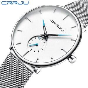 CRRJU Sports Mens slim Watches Top Brand Luxury Waterproof Sport Watch Men Ultra Thin Dial Quartz Watch Casual Relogio Masculino(China)