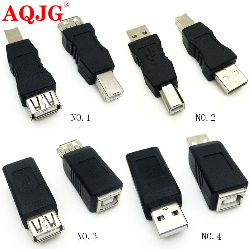 1pcs USB 2.0 Type B Printer Female To Mini USB 5 Pin Male Plug Adapter Convertor