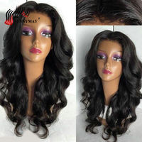 Brazilian 150%Density 360 Lace Frontal Wig With Baby Hair Pre Plucked Loose Wave Lace Front Human Hair Wigs For Women