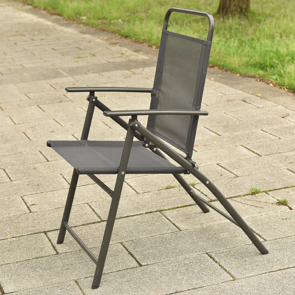 Ordinaire 6 PCS Patio Garden Set Furniture 4 Folding Chairs Table With Umbrella Gray  New HW52116 In Garden Sets From Furniture On Aliexpress.com | Alibaba Group