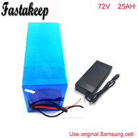 72V 25Ah Electric Balance Bike Battery 72V 3000w DIY Lithium Battery Pack with Charger BMS PVC Pack For Samsung cell