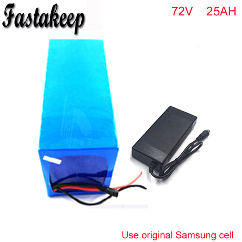 72V 25Ah Electric Balance Bike Battery 72V 3000w DIY Lithium Battery Pack with Charger BMS PVC Pack For Samsung cell цена