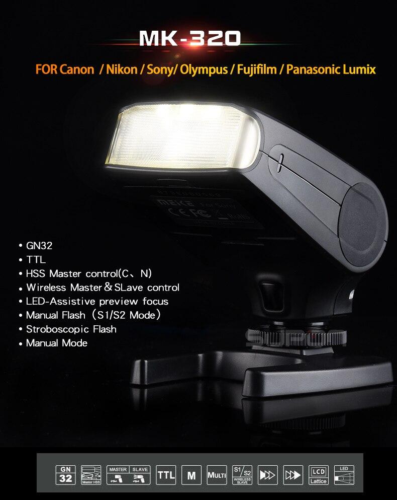 ФОТО MeiKe MK-320 mk320f TTL mini Flash speedlite For Fujifilm hotshoe m3/4 X-T10 X-PRO1 X100T X100S X-A1 X-E2 X-M1 X-A2 X30 X-E1