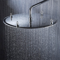 Nuevo 2015 recién llegado 20 pulgadas 50*50cm cabeza de ducha de lluvia 304 SUS diseño ultra delgado contemporáneo pommeau de Ducha