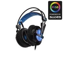 SADES Locust Plus 7 1 Surround Sound Headphones USB Gaming Headset Soft leather Headband