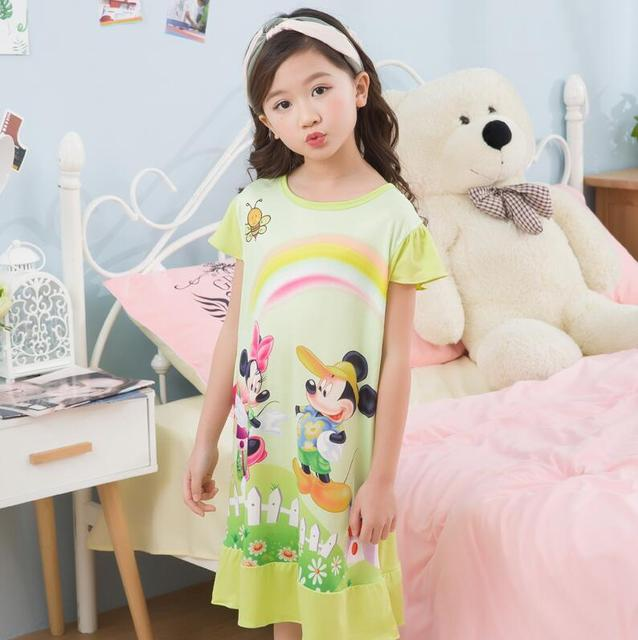 2018 New Hot Girls Nightgown Dress Nightdress Pajama Cartoon (2 12y ...