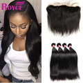 7A Lace Frontal Closure With 4 Bundles Brazilian Virgin Hair Free Part Lace Frontal With Straight Human Hair Weave Bundles Deals