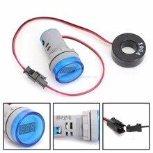 AC 220V 0-100A цифровой амперметр 22 мм Дисплей контролировать ток измерительного прибора# H028# Прямая