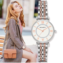 Купить с кэшбэком Wegarsti Fashion Brand Women Watches Stainless Steel Quartz Watch Casual Waterproof  Clock Female Ladies Wristwatch relogio