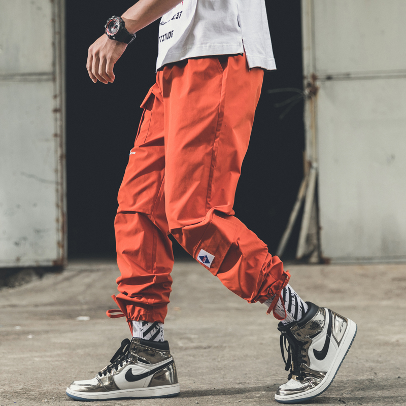 Casual Pants Men Spring And Summer New Overalls Men's Japan Style  Loose Version Of Small Leg Casual Mens Joggers Pants
