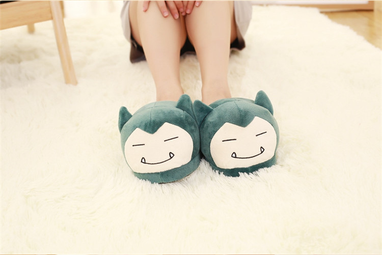 Costume Props Huolun New Winter Home Cotton Warm Plush Slippers Cute Cartoon Pokemon Pocket Monster For Pikachu Lovers Shoes Costumes & Accessories