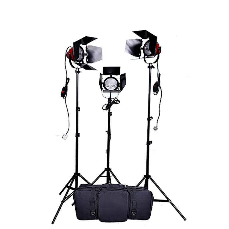 Lamp television lights photography light focusing soft light 800w red headlights set 4 55w color soft lights lamp stage lighting film and television studio
