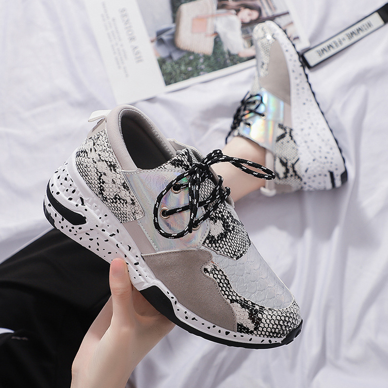 DORATASIA New INS Hot Bling Sneakers Women 2019 Autumn Large Size 36 41 Fashion Snake Veins Flats Women Casual Shoes Woman in Women 39 s Flats from Shoes