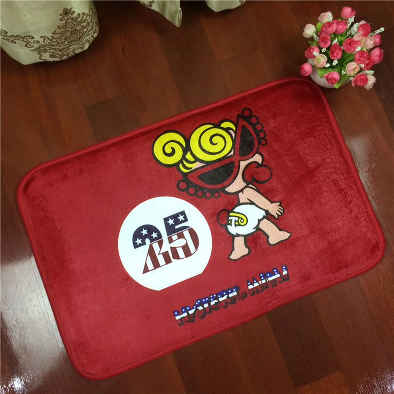 Hot Flannel Hysteric Mini Kids Room Mat Antiskid Carpet Living Room 40*60cm Bathroom Toi ...
