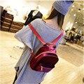 Mochilas mujer 2017 de veludo de alta qualidade mochila ocasional pequeno zíper patchwork designer de saco de compras luz bolsos escola CC105