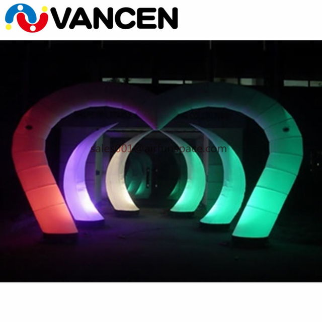 VANCEN advertising led light inflatables sickle shape inflatable led light decoration for party events