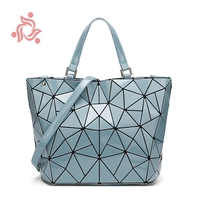 Geometry Bag Women Geometric Shoulder Bags Quilted Diamond Tote Plain Folding Laser Handbags Drop Shipping Luxury City Designer