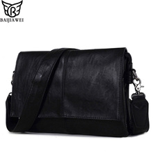 BAIJIAWEI Neue Ankunft Männer Leder Umhängetasche Umschlag Stil Tasche Große kapazität Messenger Bags Hohe Qualität Pu-leder Handtaschen