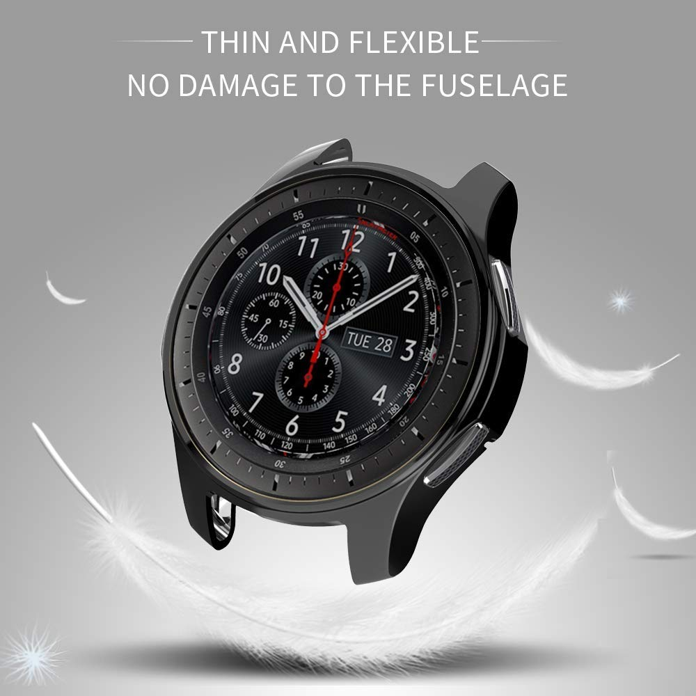 protective cover for samsung Gear S3 frontier case TPU plated All-Around protective bumper shell smartwatch R760 cover frame protective abs bumper frame for samsung i8750 transparent