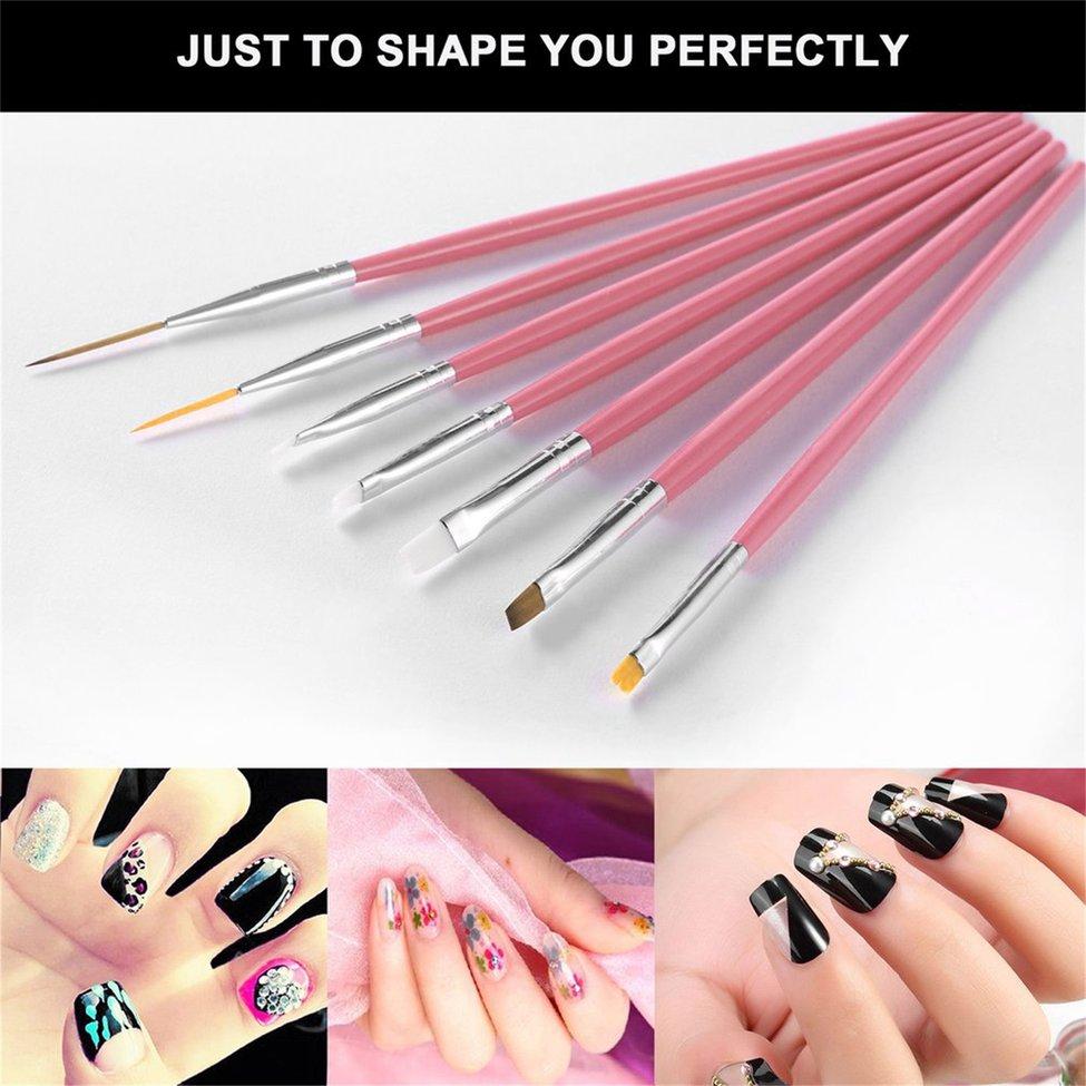 10 pièces Nail Art brosse ongles pointage stylos décorations ensemble outils professionnel peinture stylo ongles conseils UV brosse à ongles