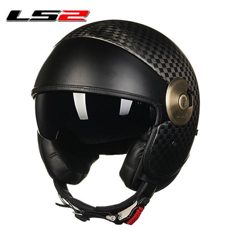 Carbon Fiber Motorcycle Helmets >> Carbon Fiber Helmet With Inner Sun Visor LS2 OF 597 ...