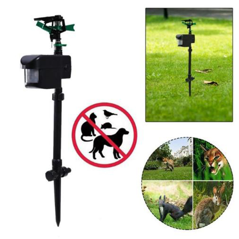 Solar Powered Garden Dogs Cats Repeller Motion Activated Animal Repellent Sprinkler Animal Repellent Sprinkler Garden Supplies