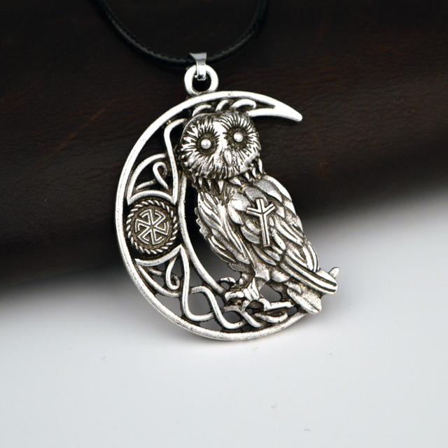 1pcs large celtics owl pendant necklace animal totem viking jewelry 1pcs large celtics owl pendant necklace animal totem viking jewelry protect amulet necklace aloadofball Image collections