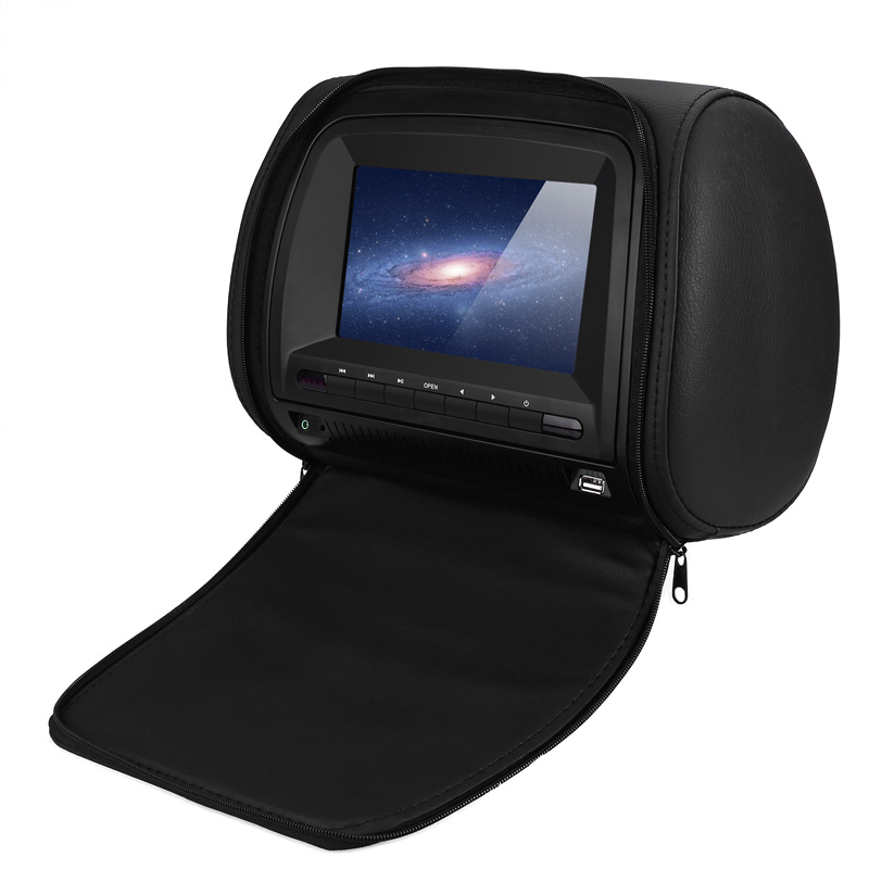 Monitor 7 Inch Wide View TFT LCD Digital Screen Car DVD Player Headrest With IR/FM Transmitter USB SD Speaker Game MP5 Player - 2