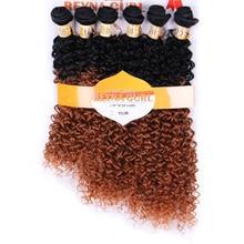 DELICE 6шт. / Комплект жіночого омбра T1 / 30 Вишивання волосся Кучерявий кучерявий розтягнення волосся Ткацький термостійкість Синтетичні волоски Плечіння пучків