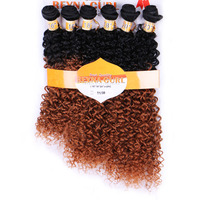 DELICE 6pcs Pack Women S Ombre T1 30 Hair Weaving Kinky Curly Hair Extensions Weft Heat