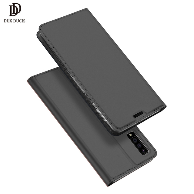 new arrival 22f26 bbffd US $7.99 30% OFF|DUX DUCIS Flip Leather Case For Samsung Galaxy A7 2018  Luxury Wallet Phone Cover for Samsung A7 2018 A750 Case Coque Hoesjes-in  Flip ...