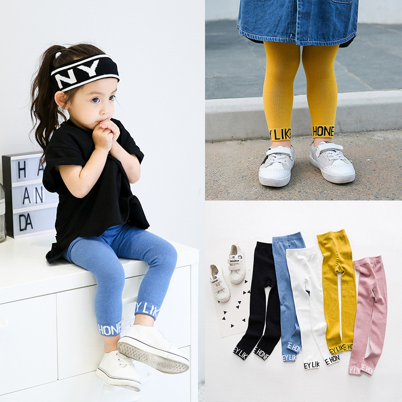 Children Leggings For Girls Wholesale Render Pants With Letters Ninety Trousers Pantyhose Girls Leggings