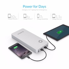 ORICO 18000mAh Notebook Power Bank Aluminum Alloy Dual USB Output One DC 12/16/19V Port for Lattop with 10pcs Connector