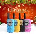 Presente de Natal das crianças crianças Brinquedo Walkie Talkie T-388 T388 UHF Handheld Pequeno Rádio walkie talkie rádio Portátil conjunto