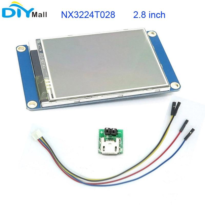 Nextion 2.8 TFT 320x240 NX3224T028 HMI Resistive Touch Screen UART Smart Display Module for Arduino Raspberry Pi ESP8266