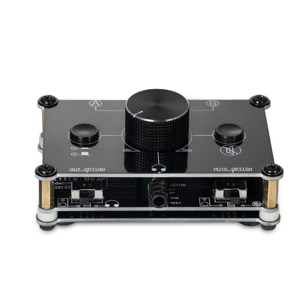 Mc1024 2 Way Microphone Headset Speaker Mic Audio Switch Hub 3 4 Pole Switcher 35mm Ab Selector In Headphone Amplifier From Consumer Electronics On