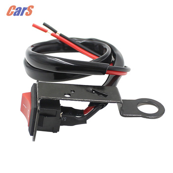 Motorcycle Switch Fixed Wiring Harness fixed on bracket of rearview mirror for Motorcycle Switche Electromobile car-styling image