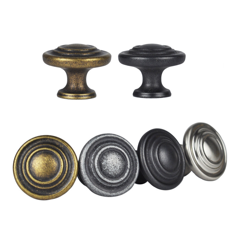 1x Single Hole Antique Bronze Drawer Pulls Handles Kitchen Cabinet Knobs