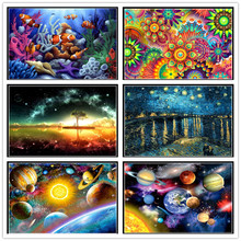 Diy 5d diamond painting underwater world round mosaic picture embroidery pattern handmade childrens gifts