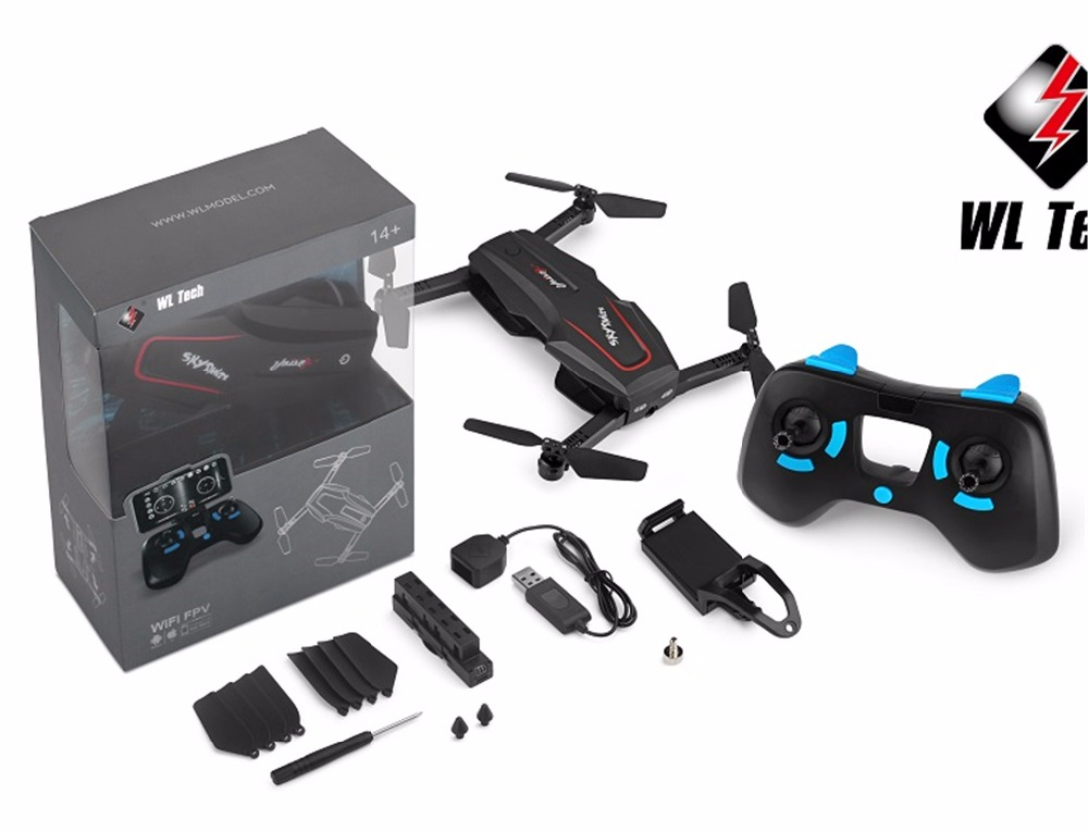 Good quality New hot sales WL Q626 2 4Ghz 4ch mini foldable drone with 720P HD