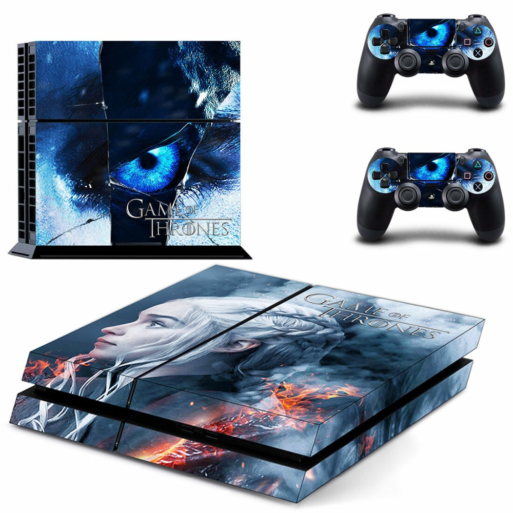 New PS4 Skin Sticker Decal Vinyl for Sony Playstation 4 Console and Controllers PS4 Skin Sticker - Game of Thrones GOT