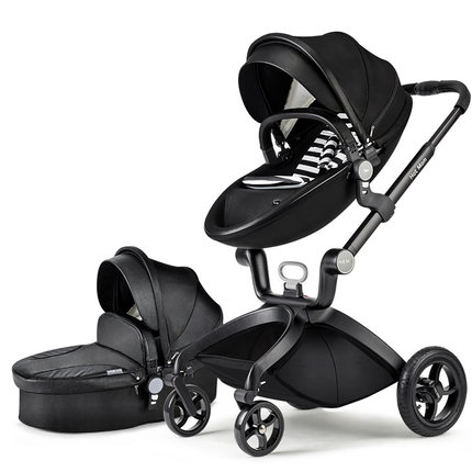 Free shipping New arrival four wheel leather baby stroller folding trolley buggiest baby car carriage bebek arabasi strength training