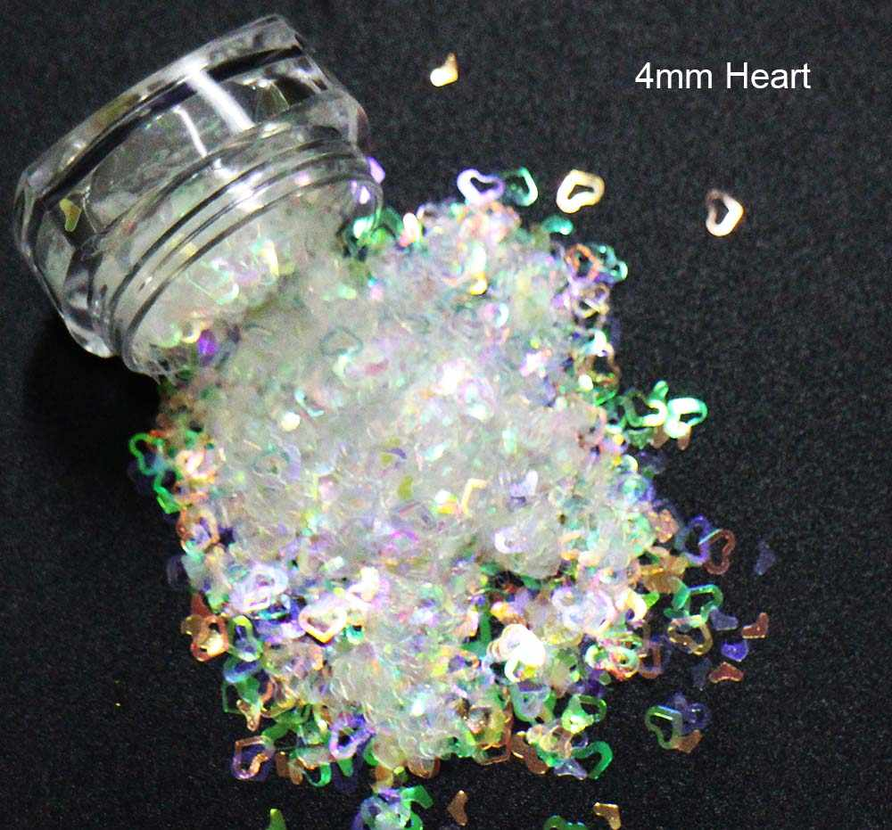 star/heart/maple Shapes Sequins, Iridescent Rainbow Shining Slices 3D nail art glitters paillettes.