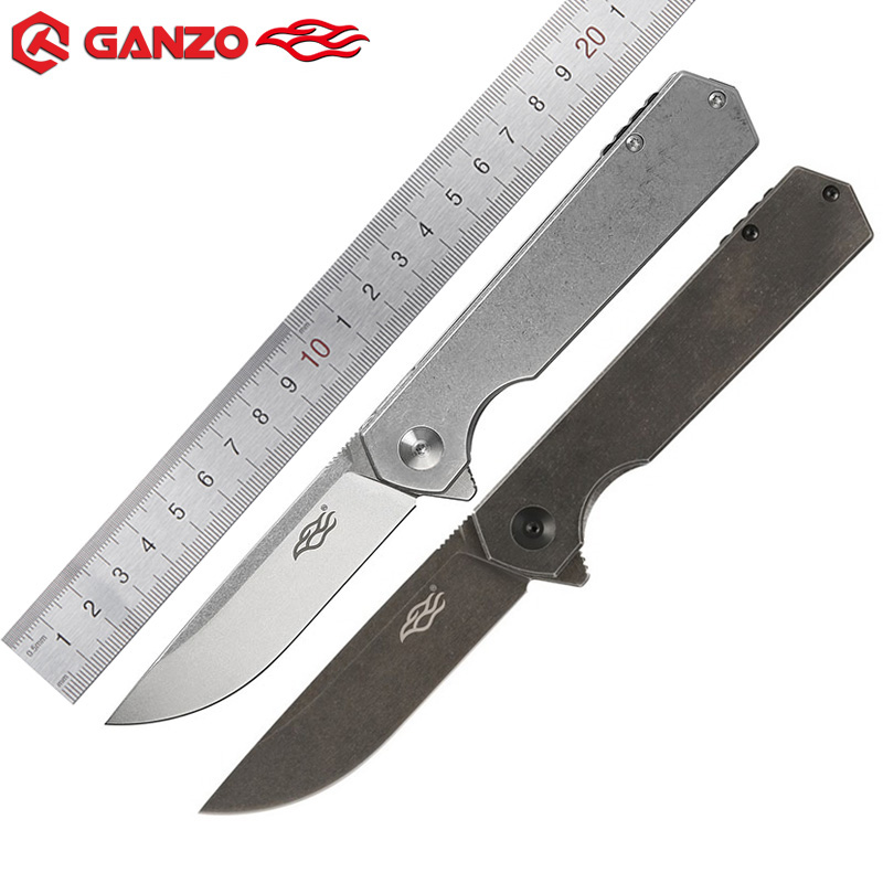Ganzo Firebird FH13 folding knife 60HRC D2 blade All Steel Handle Folding knife Survival Pocket Knife