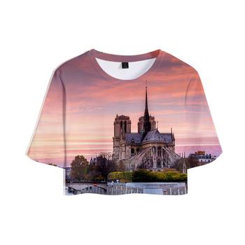 2019 T-shirt 3D Notre Dame de Paris lato kobiety sexy koszulki kobiety odzież codzienna 2019 gorąca sprzedaż k-wyskakuje tshirt plus rozmiar XXL tanie i dobre opinie WOMEN tops Z KRÓTKIM RĘKAWEM POLIESTER HIP HOP Sukno SHORT NONE REGULAR W stylu rysunkowym Z okrągłym kołnierzykiem