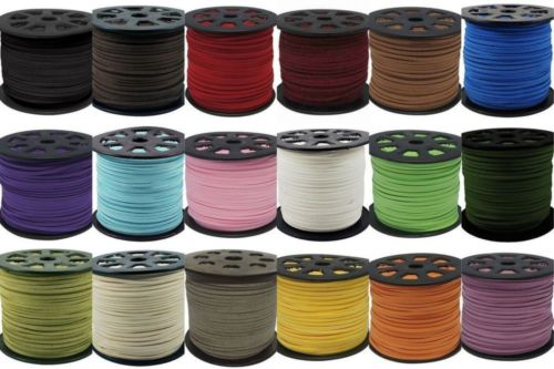 90 meters Faux Suede Flat Leather Cord Lace String - Arts, Crafts and Sewing