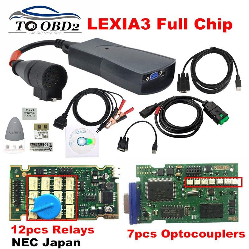 Profissional Lexia3 Chip de Referência de Série Completo 921815C PSA Lexia 3 V48 PP2000 V25 Excelente PCB de Ouro Frete Grátis