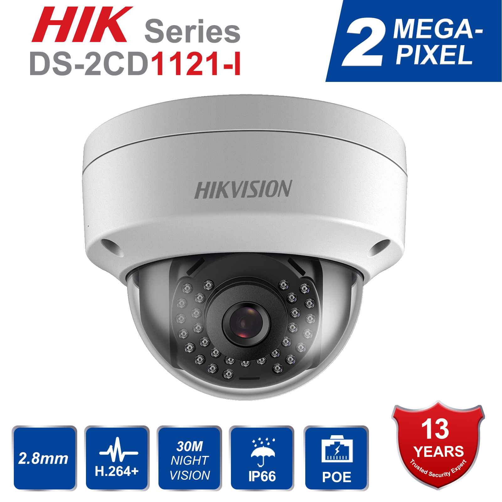 DS-2CD1121-I 2MP POE Mini Dome Security IP Camera IP66 CCTV Network Camera Replace DS-2CD2125F-IS DS-2CD2132F-ISDS-2CD1121-I 2MP POE Mini Dome Security IP Camera IP66 CCTV Network Camera Replace DS-2CD2125F-IS DS-2CD2132F-IS
