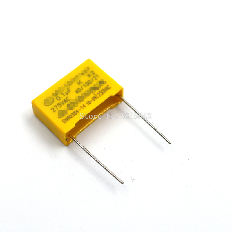 20PCS/LOT Safety Capacitor 275VAC 104 0.1UF 275V Pitch 15mm Polypropylene Film Capacitor Capacitance